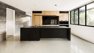 riddle bentleigh black timber kitchen finney